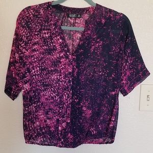 Ana watercolor snakeskin print blouse